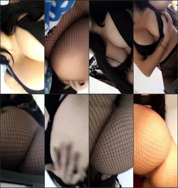 Ashley Kendall sexy all in black teasing snapchat premium 10/25
