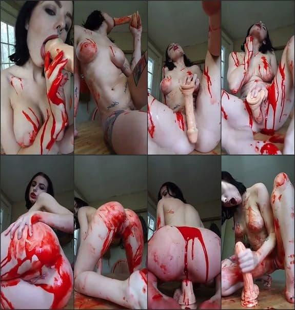 Alora Li masturbation with blood 2018/10/20
