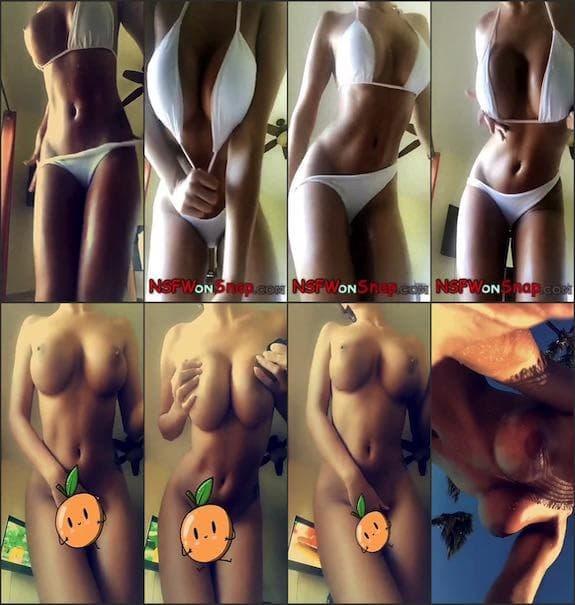 Kristie Taylor white bikini to naked snapcaht premium 4/27