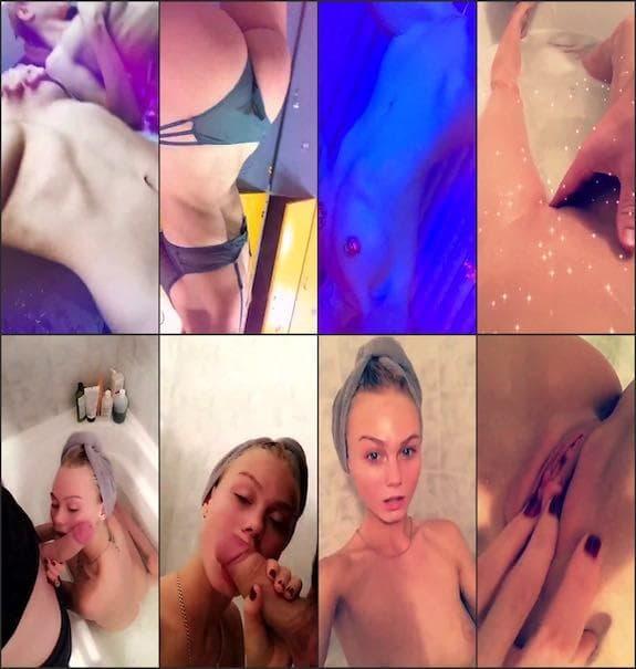 Nancy Ace blowjob cum on body & pussy fingering snapchat premium 5/01