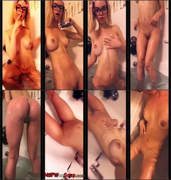 Morgan Lux bathtub booty teasing snapchat premium 4/11
