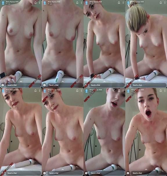 Anny Aurora white Hitachi orgasm snapchat premium 2019/08/14