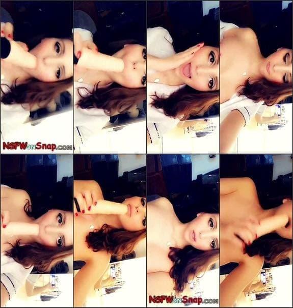 YungxCutie (Stefania Ta) dildo blowjob & no bra teasing snapchat premium 2/19
