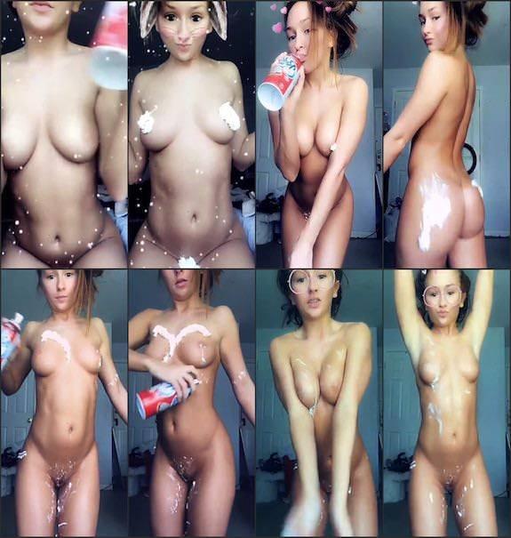 Alexx (Sasha) Wonderr naked & cream snapchat premium 5/02