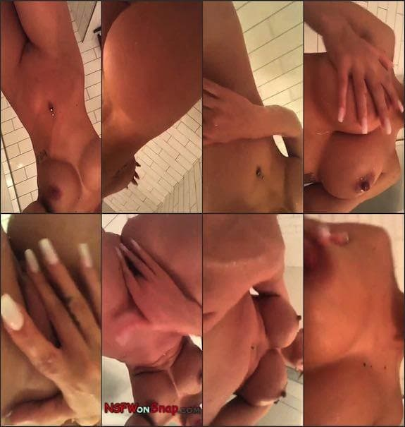 Allison Parker shower show snapchat premium 7/27