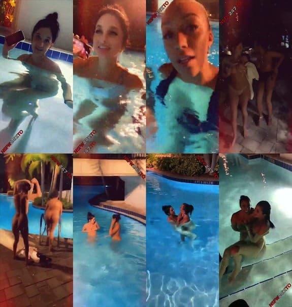 Ariana Gray with Gia Valentine swimming pool show snapchat premium 2019/09/09