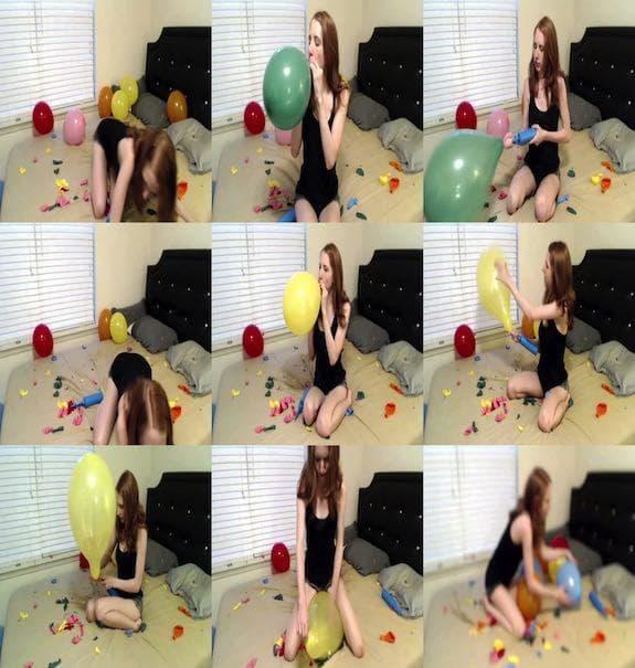 charlottehazey - Popping all my leftover balloons