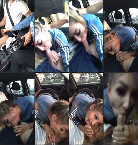 Austin Reign blowjob in car cum swallow snapchat premium 2018/07/30