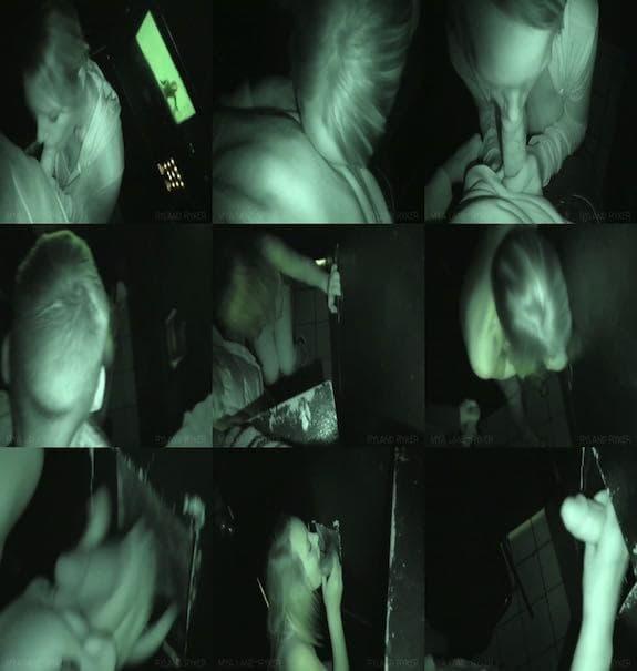 Mya Lane – Licking and Jerking a Cock at Gloryhole