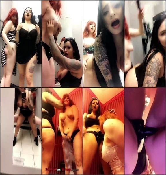 Cassie Curses lesbian public dressing room strap on sex snapchat premium 7/03