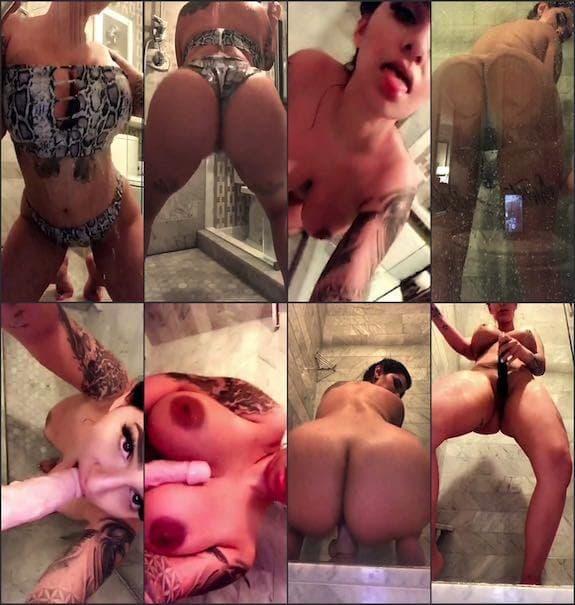 Cassie Curses shower dildo blowjob & riding snapchat premium 7/30