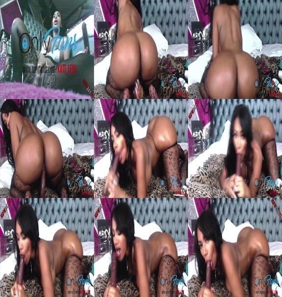 Katt Leya - creamy pussy dildo masturbation