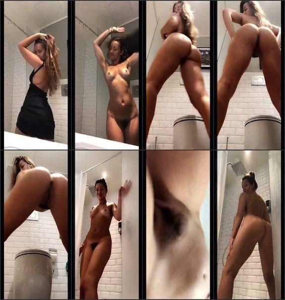 Dani Daniels black dress naked twerking snapchat premium 8/05