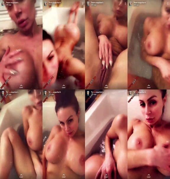 Kendra Lust bathtub tease snapchat premium 2019/10/23
