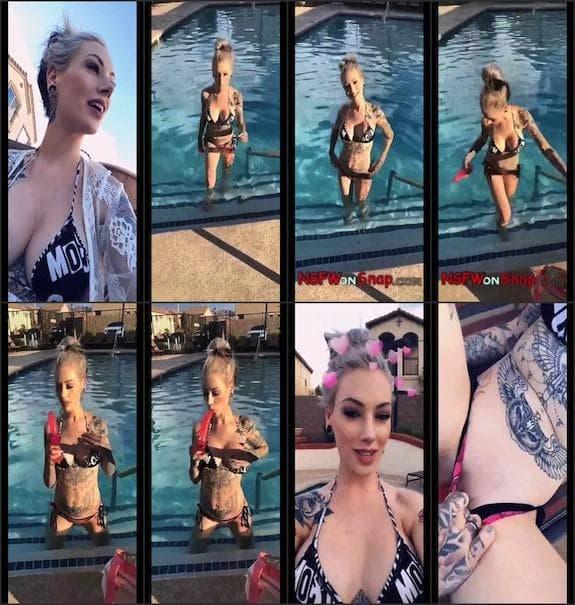 Jessica Payne swimming pool quick show snapchat premium 7/10