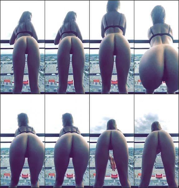Katie Adler quick booty spreading snapchat premium 2018/06/15