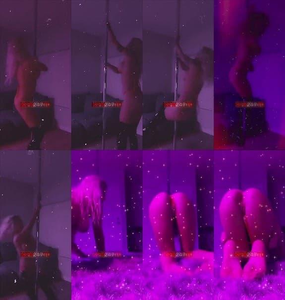 Luna Skye pole dance snapchat premium 2019/03/07