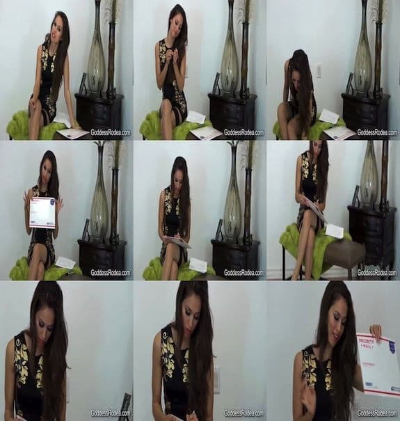 Goddess Rodea Rules You - Real Panty Mailing
