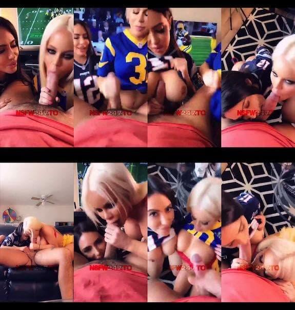 Lela Star 2 girls blowjob POV snapchat premium 2019/02/02