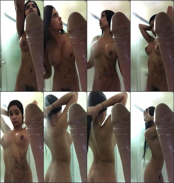 Aaliyah Hadid – shower time