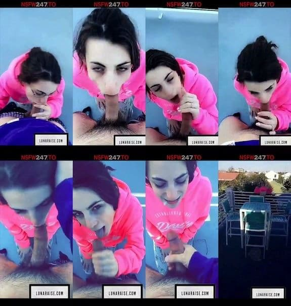 Luna raise outdoor blowjob snapchat premium 2018/11/03