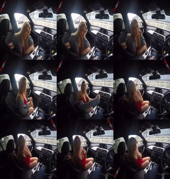 [Club] Elle Brooke - pussy fingering in car