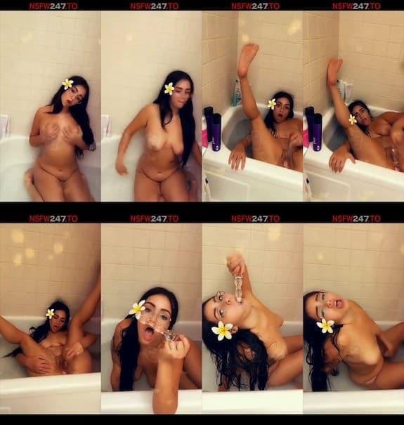 SluttyBabyTiger bathtub masturbation show snapchat premium 2018/10/24