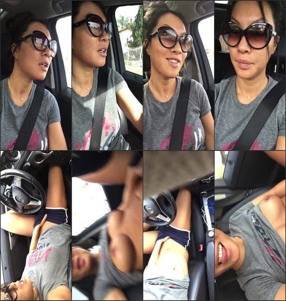 Asa Akira - pussy fingering in car