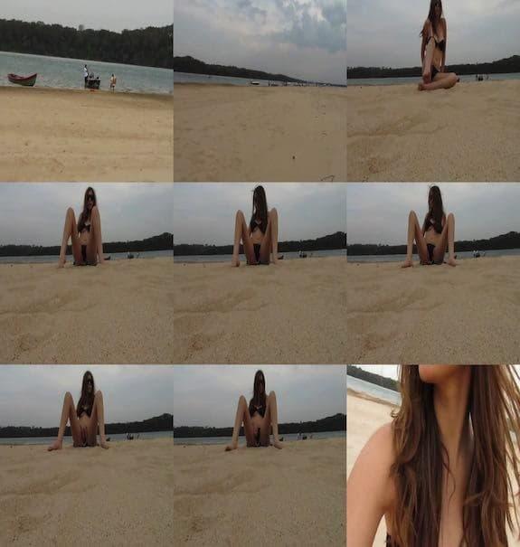 misssweetteen - Masturbation on the beach publishes