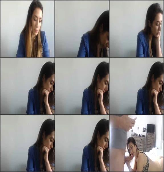 Eva Lovia – Q&A ended with blowjob cum on face