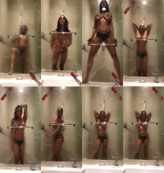 Audrey Bitoni - shower video enjoy