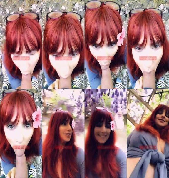 Amber Dawn outdoor quick blowjob snapchat premium 2019/04/27