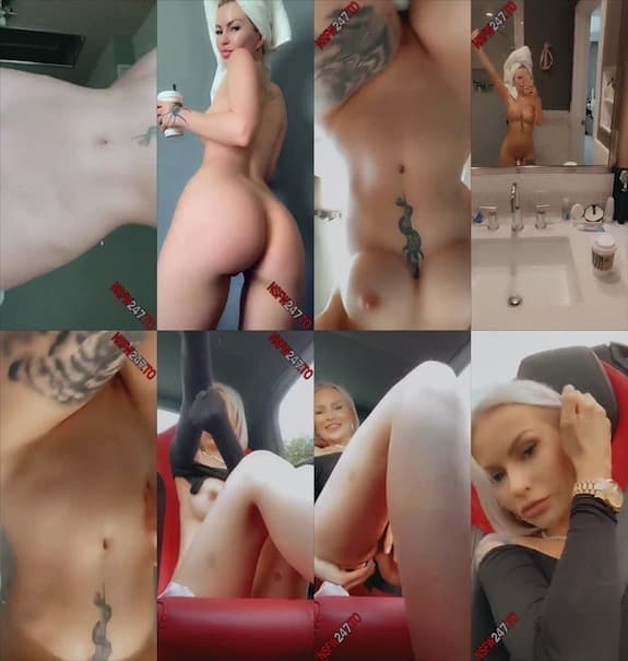 Layna Boo shower snaps & undressing in car snapchat premium 2020/01/19