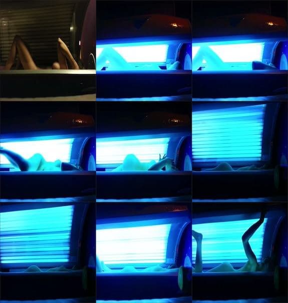 CandieCane - tanning voyeur video