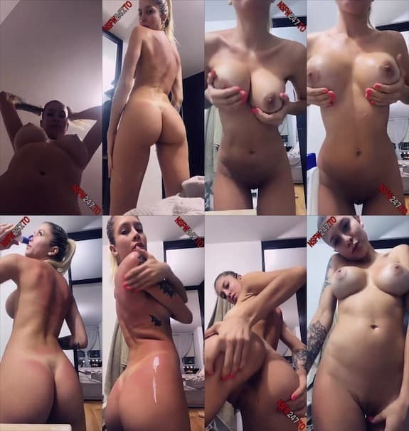 Mia Unikorn after shower fully naked tease snapchat premium 2020/01/21