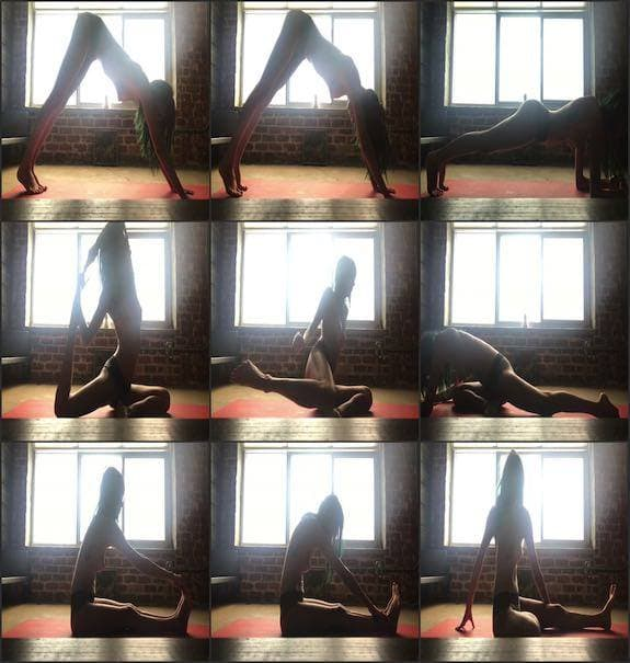 Janice Gfiffith - no bra yoga