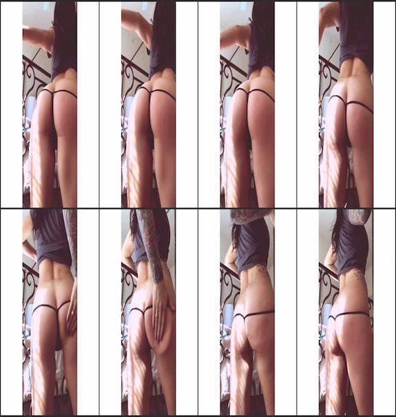 Jordyn - booty spanking 2016/09/09