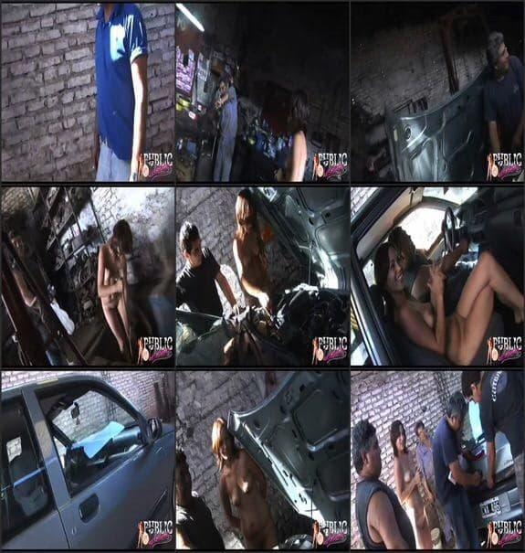 MyPublicDreams - flashing naked in car repair