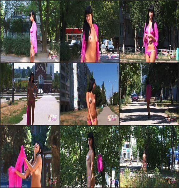 MyPublicDreams - Girl in the pink sexy bikini flashing