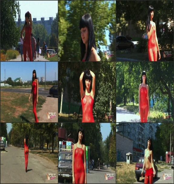 MyPublicDreams - russian beauty flashing in amazing red suit
