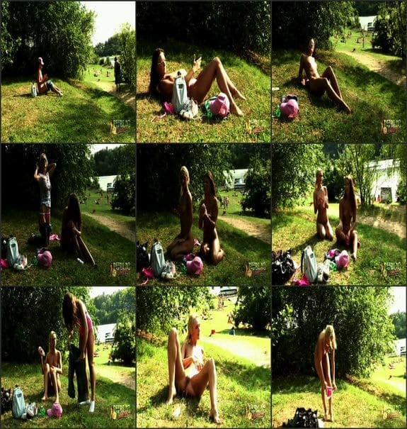 MyPublicDreams - two girls sunbathe naked