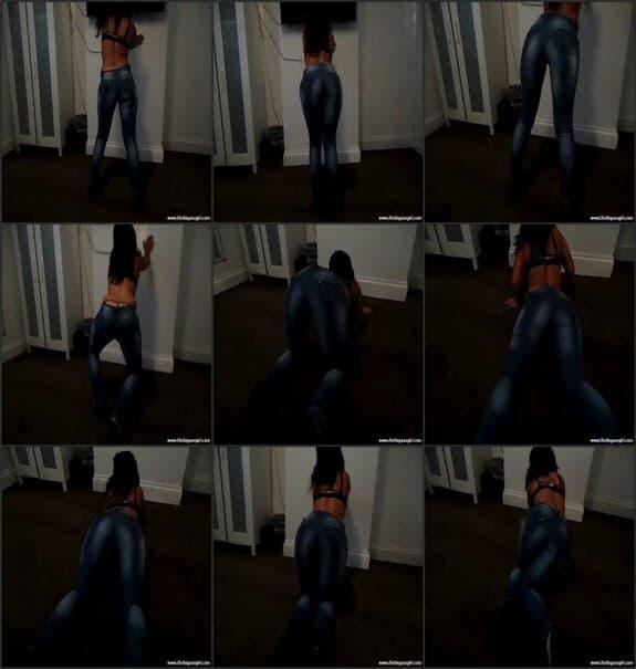 TheBigAssGirl - blue denim jeans part 2