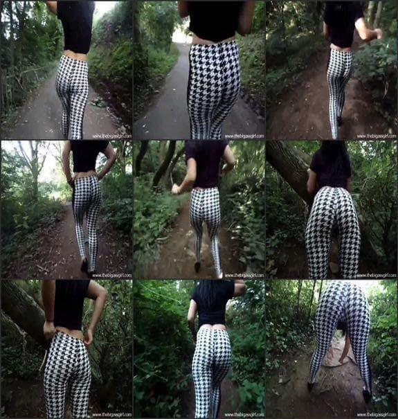 TheBigAssGirl - candid bw leggings
