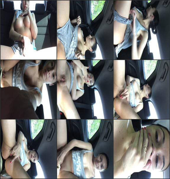 BeaBeatrice - orgasm in car in front of my building 2017/06/07