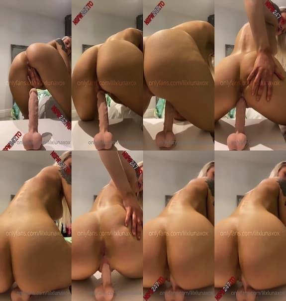 Luna Lotton - bouncing her thick ass on a dildo
