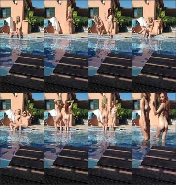 Rosa Brighid - swimmingpool scene