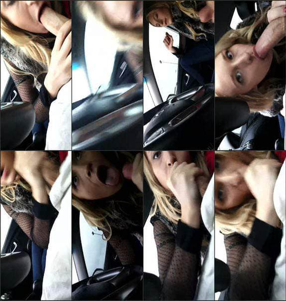 Ginger Banks - pov blow job in car 2016/09/11
