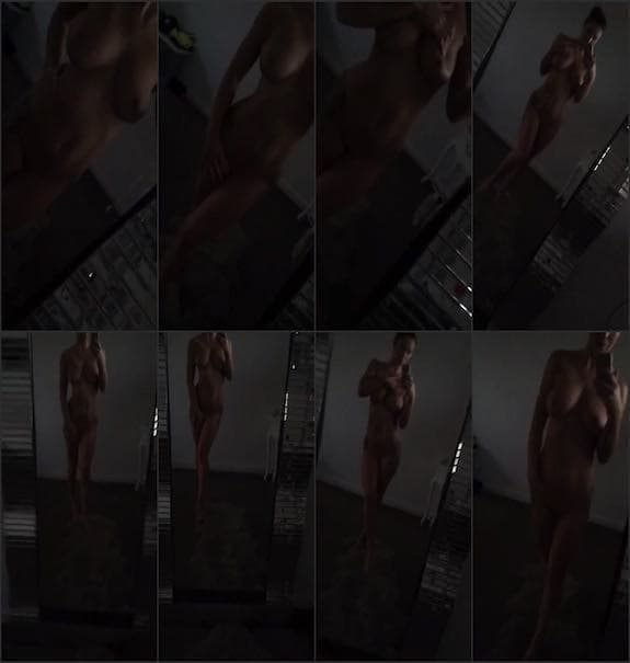 Scarlet Bouvier - naked in front of mirror