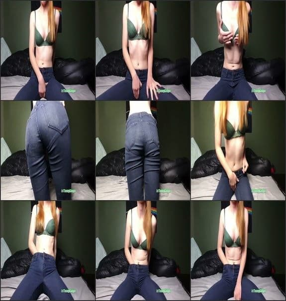 Teeny Ginger - cumming in my skinny jeans 2017/12/17
