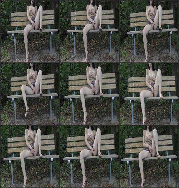 Sexy Flower Water - public park pussy fingering 2017/08/27